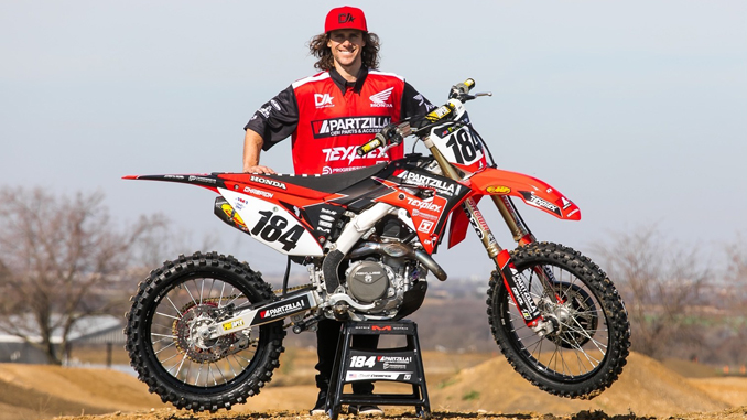Scott Champion with his Partzilla-Sponsored 2020 Honda CRF450R
