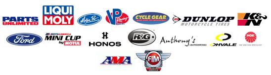 MotoAmerica sponsor banner