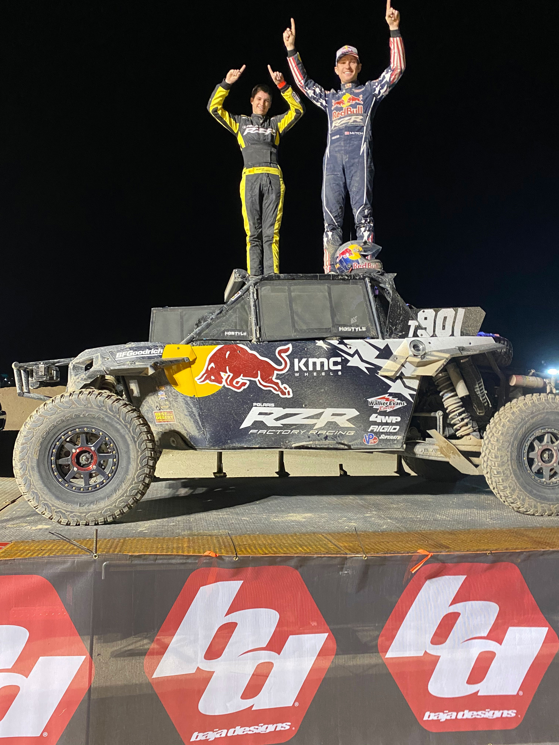 200225 Polaris RZR® Factory Racing Takes Home First at the 2020 BITD King Shocks Laughlin Desert Classic
