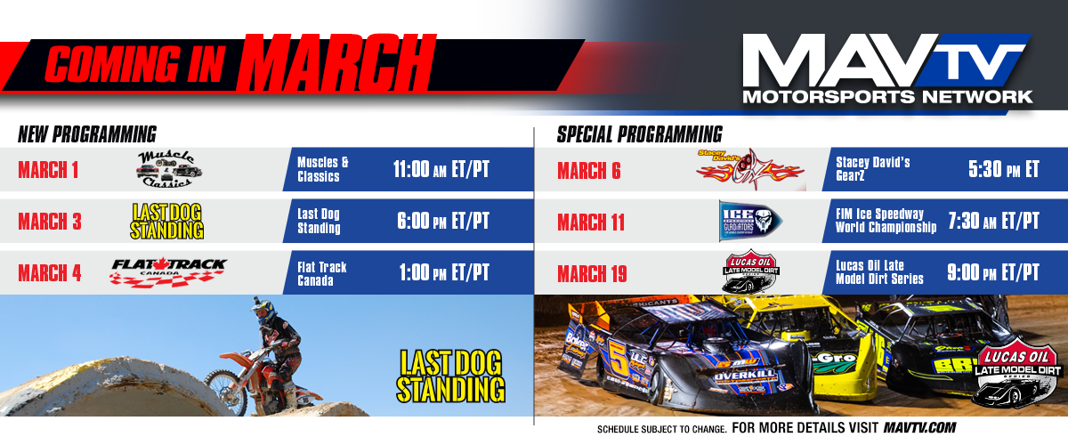 Variety of New Shows and Special Programming Featured This March on MAVTV Broadcast Schedule