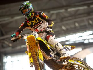 Broc Tickle (#20) entered race one with strong qualifying times but was injured early [678]