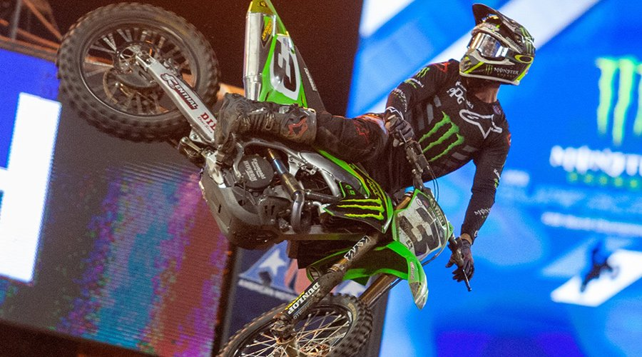 Eli Tomac Takes 450SX Class Victory and Points Lead - Tampa Monster Energy Supercross