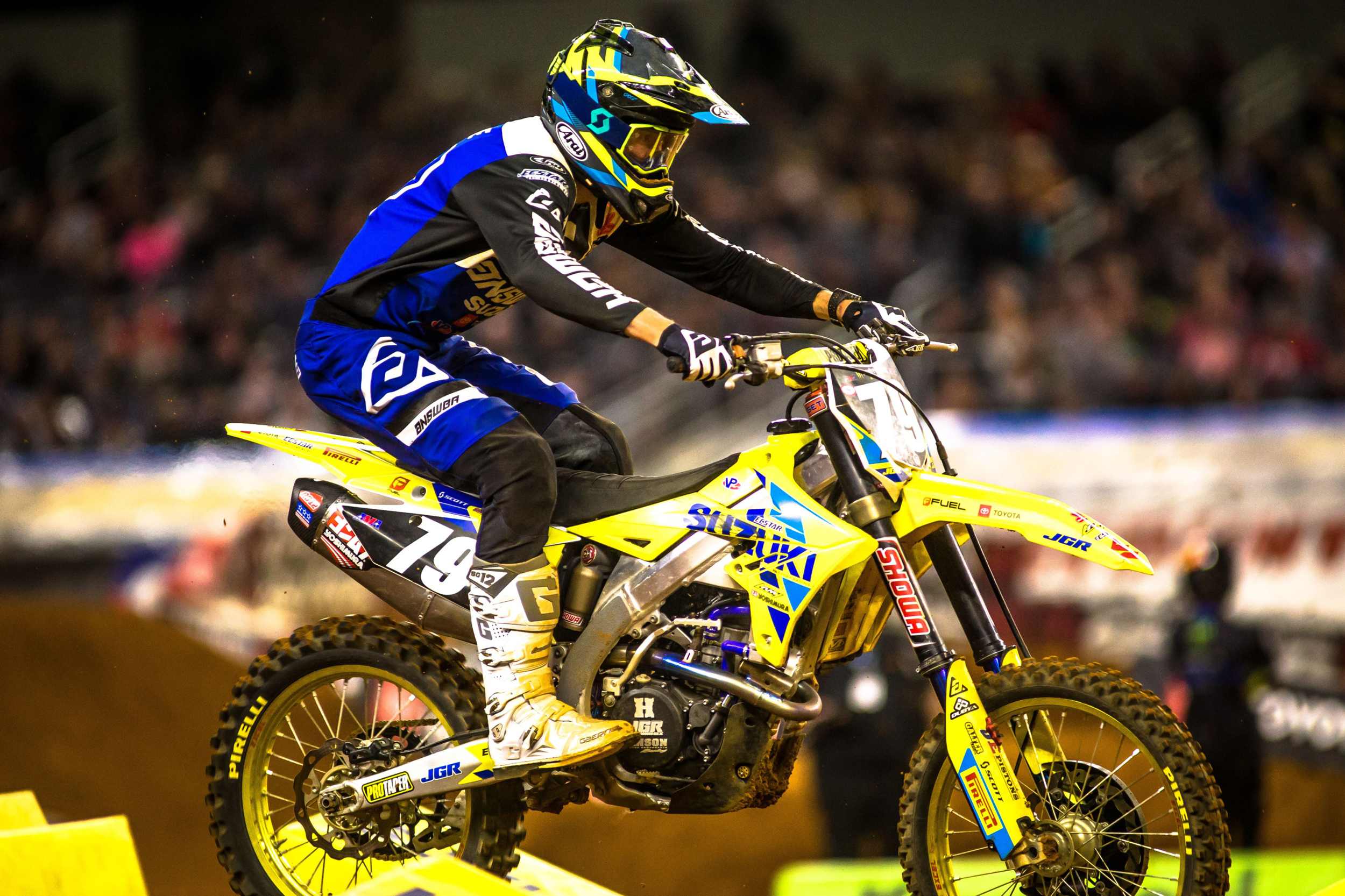 Isaac Teasdale (#79) showed speed during his fill-in ride with the team on his Suzuki RM-Z250