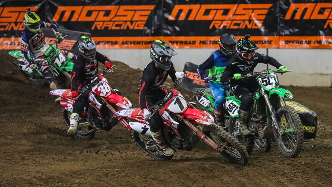 The Round Seven 450 Pro Main class on Saturday night in Denver Colorado. (Photo- Jack Jaxson) [678]