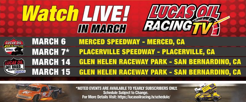 LIVE American Sprint Car Action and Lucas Off Road Racing Featured on Lucas Oil Racing TV
