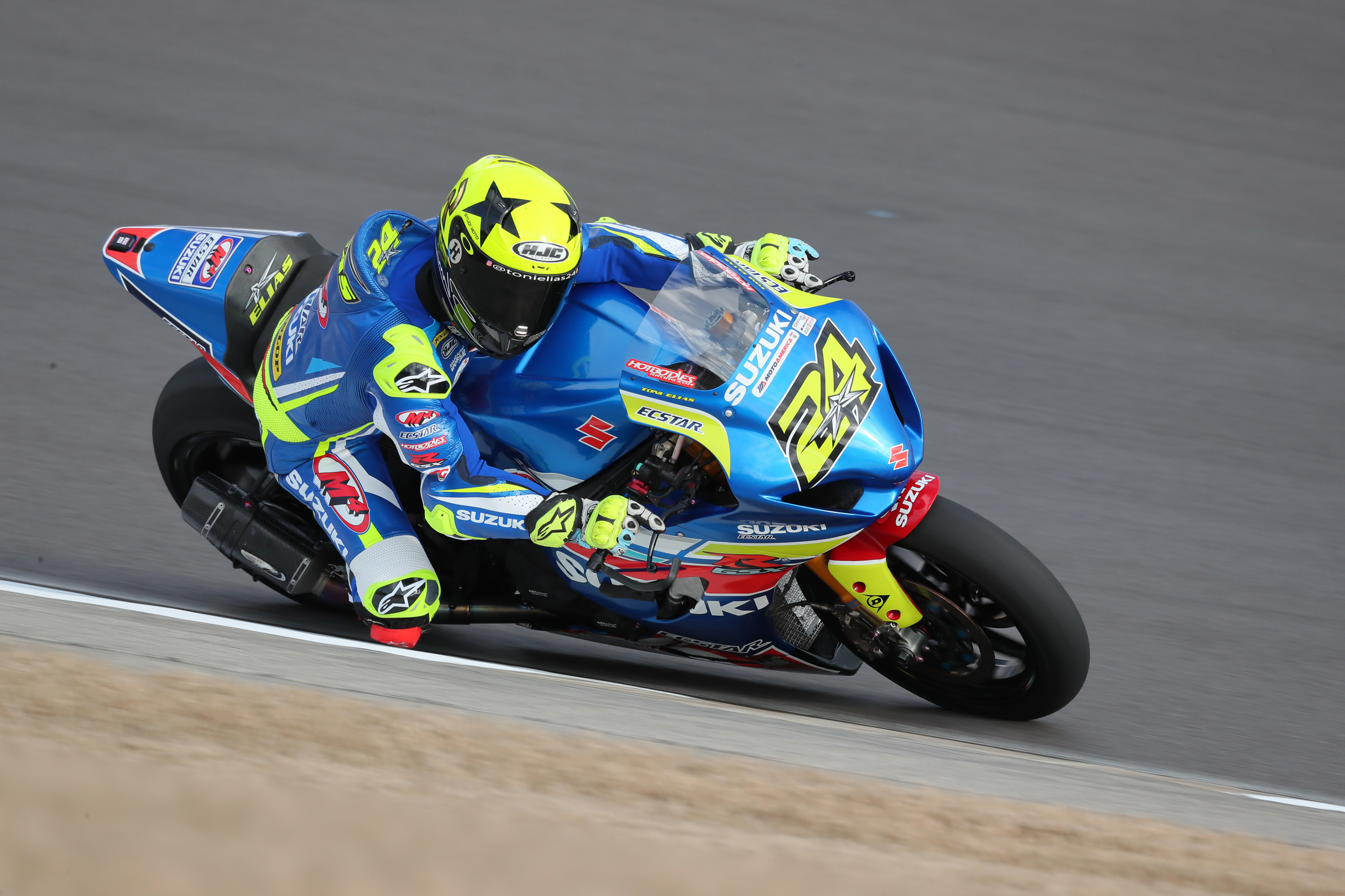 200311 M4 ECSTAR Suzuki's Toni Elias led day one of the MotoAmerica Dunlop Preseason test at the Barber Motorsports Park on Tuesday. Photo by Brian J. Nelson