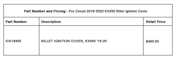 Pro Circuit KX450 2019-2020 Billet Ignition Cover - Part-Number-Pricing-R-1