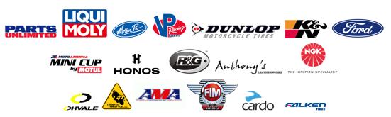 MotoAmerica Sponsor banners