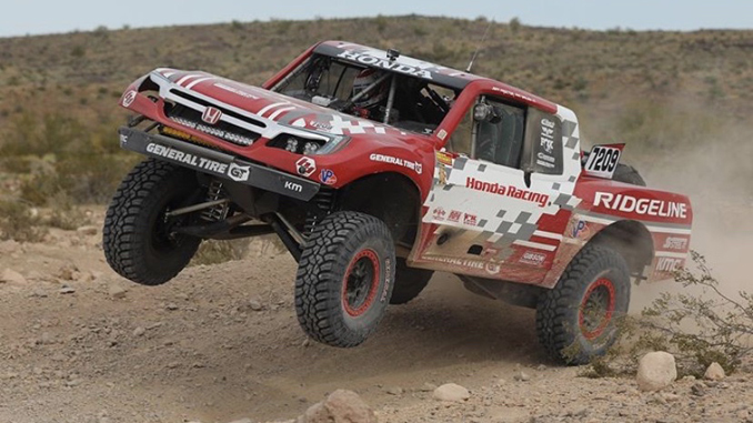 The Ridgeline Baja Race Truck finished second in Class 7 in this weekend's Mint 400 off-road race in Nevada