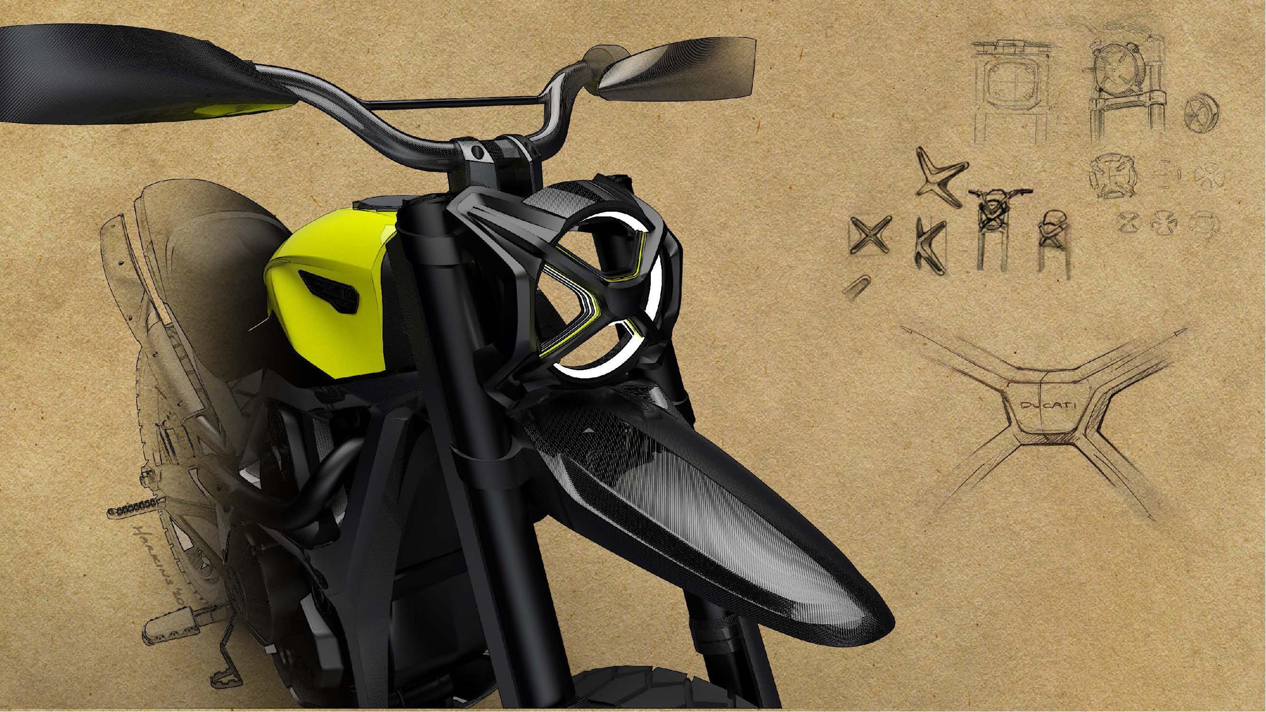 200511 Scrambler Ducati of the future - sketches by Peter Harkins (2)