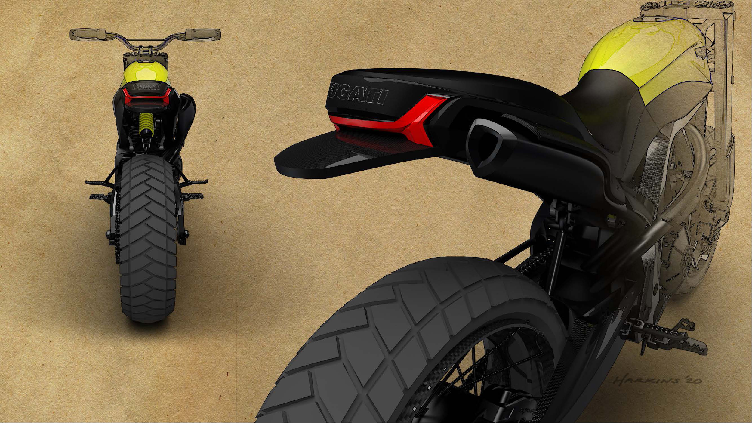 200511 Scrambler Ducati of the future - sketches by Peter Harkins (6)