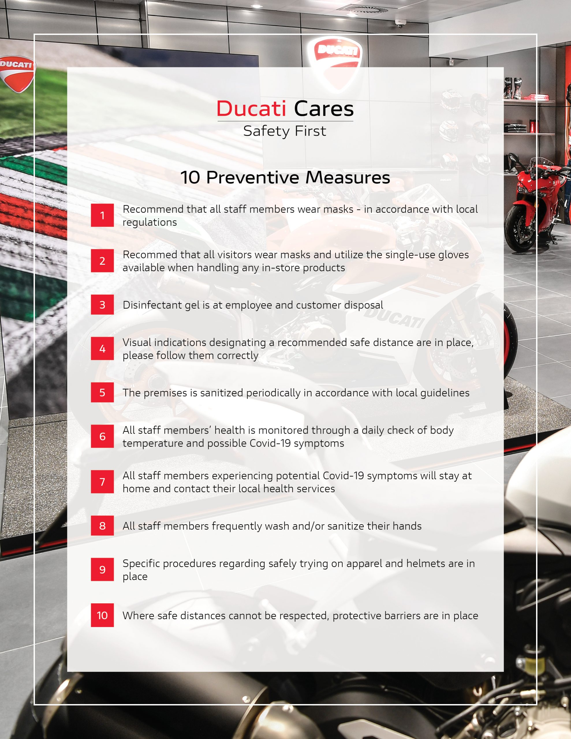 200513 Ducati Cares - 10 Golden Rules