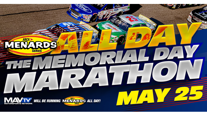 200519 All-Day ARCA Menards Memorial Day Marathon on MAVTV (678)
