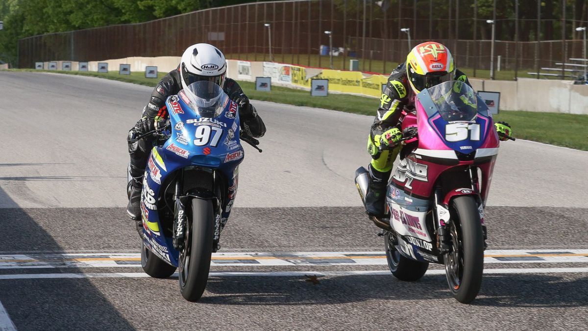 How close is close? Kaleb De Keyrel (51) beat Rocco Landers (97) by .002 of a second to win the Twins Cup race