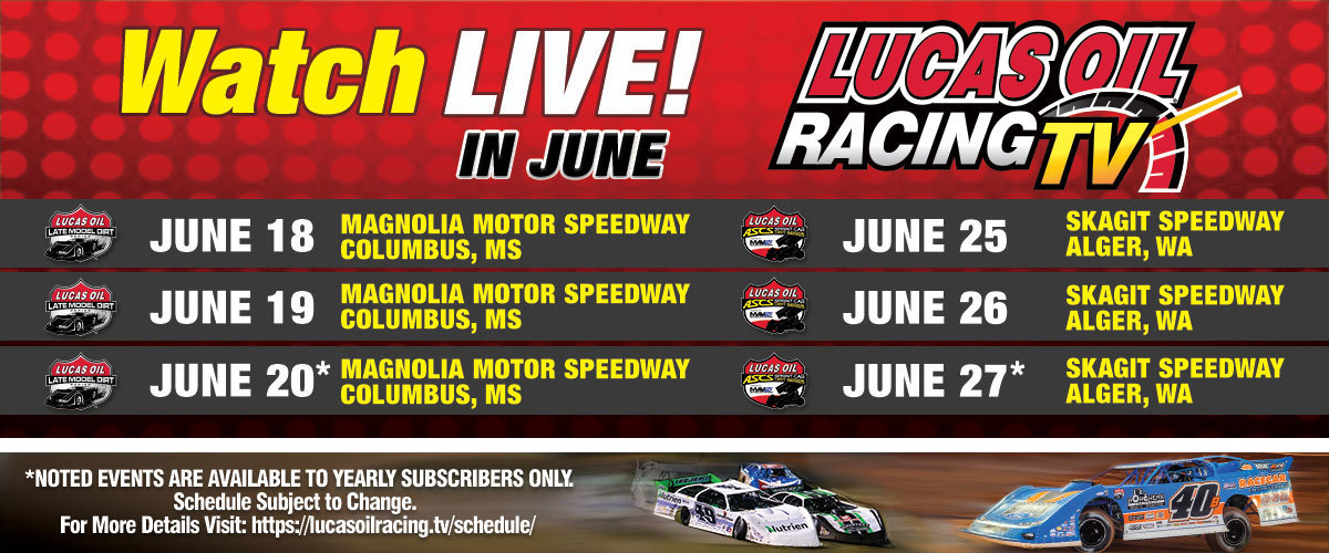 200530 LIVE Late Model Dirt and American Sprint Car Race Coverage Featured in LORTV June Broadcast Schedule (1)