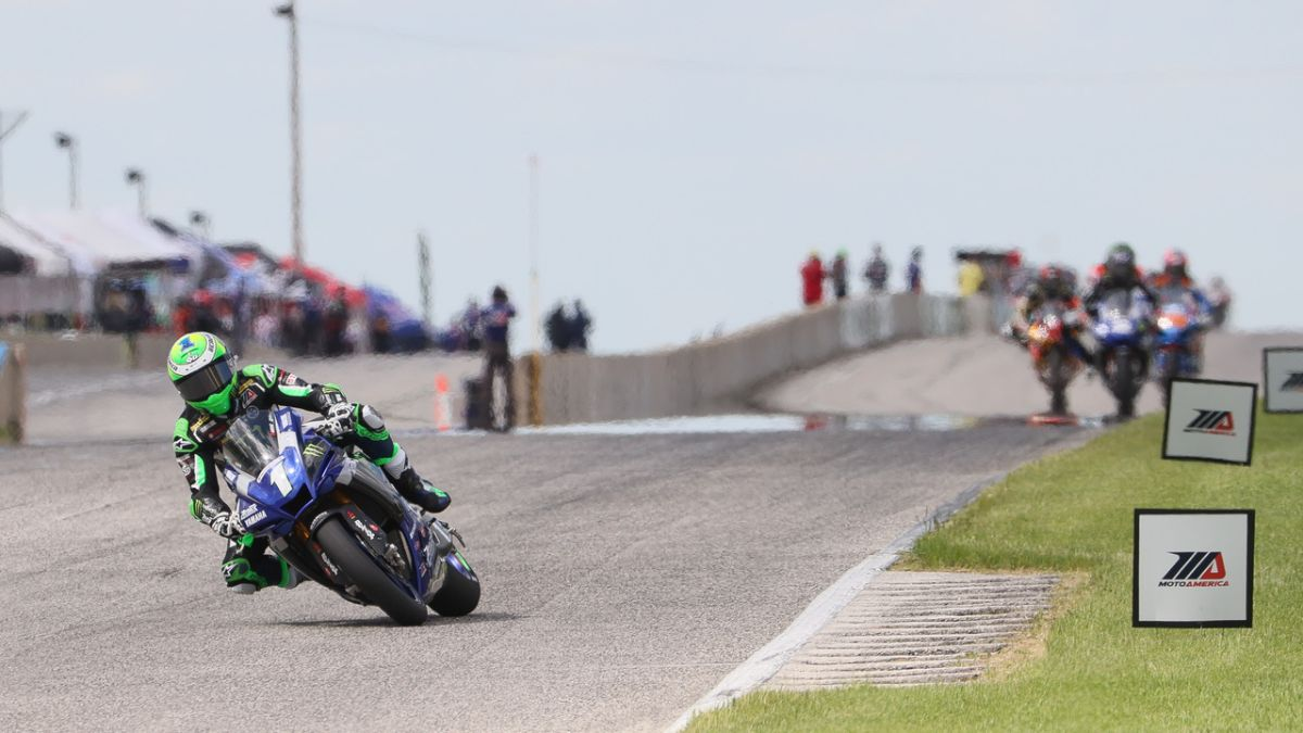 200530 Monster Energy Attack Performance Yamaha's Cameron Beaubier dominated the opening race in the 2020 HONOS Superbike Series at Road America