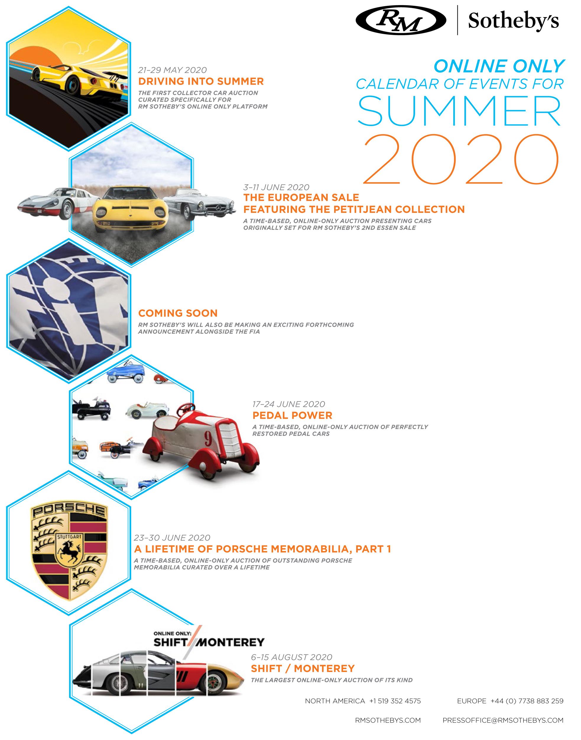 RM Sotheby's Online Only Calendar - Summer 2020