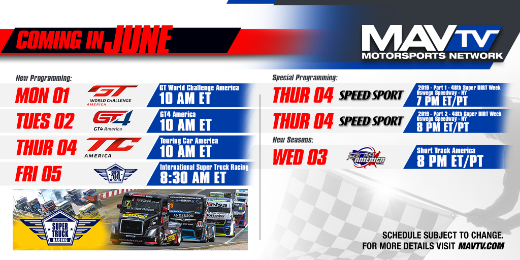200601 Variety of New Programming Scheduled on MAVTV This June