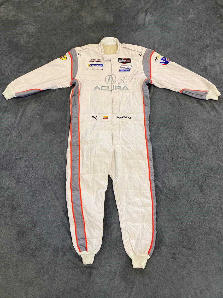 200618 Juan Pablo Montoya signed racing suit, 2019 (Credit - Courtesy of the FIA)