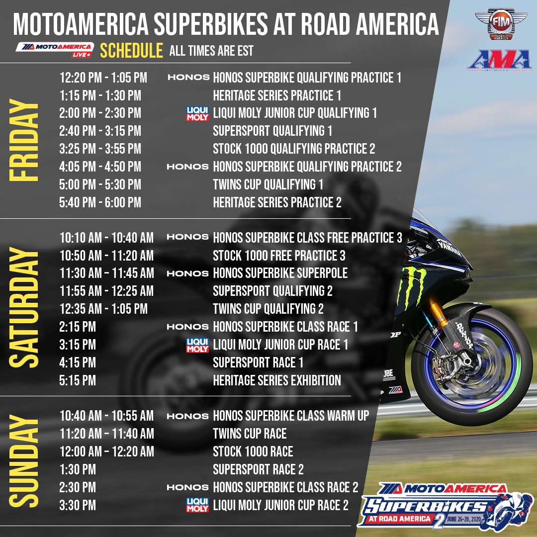 200625 MotoAmerica - How To Watch Round Two From Road America