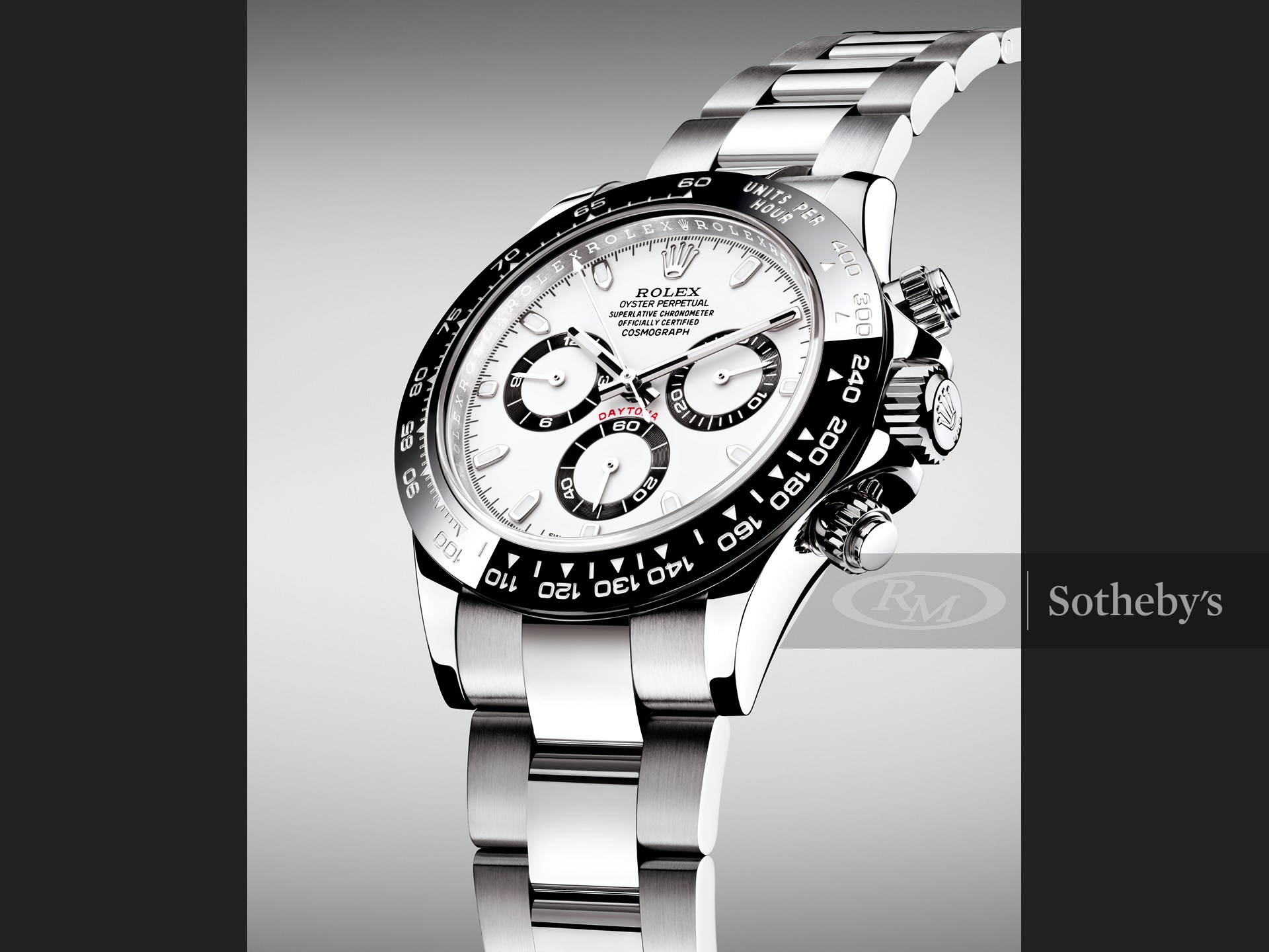 A beautiful Oyster Perpetual Cosmograph Daytona kindly donated by Rolex