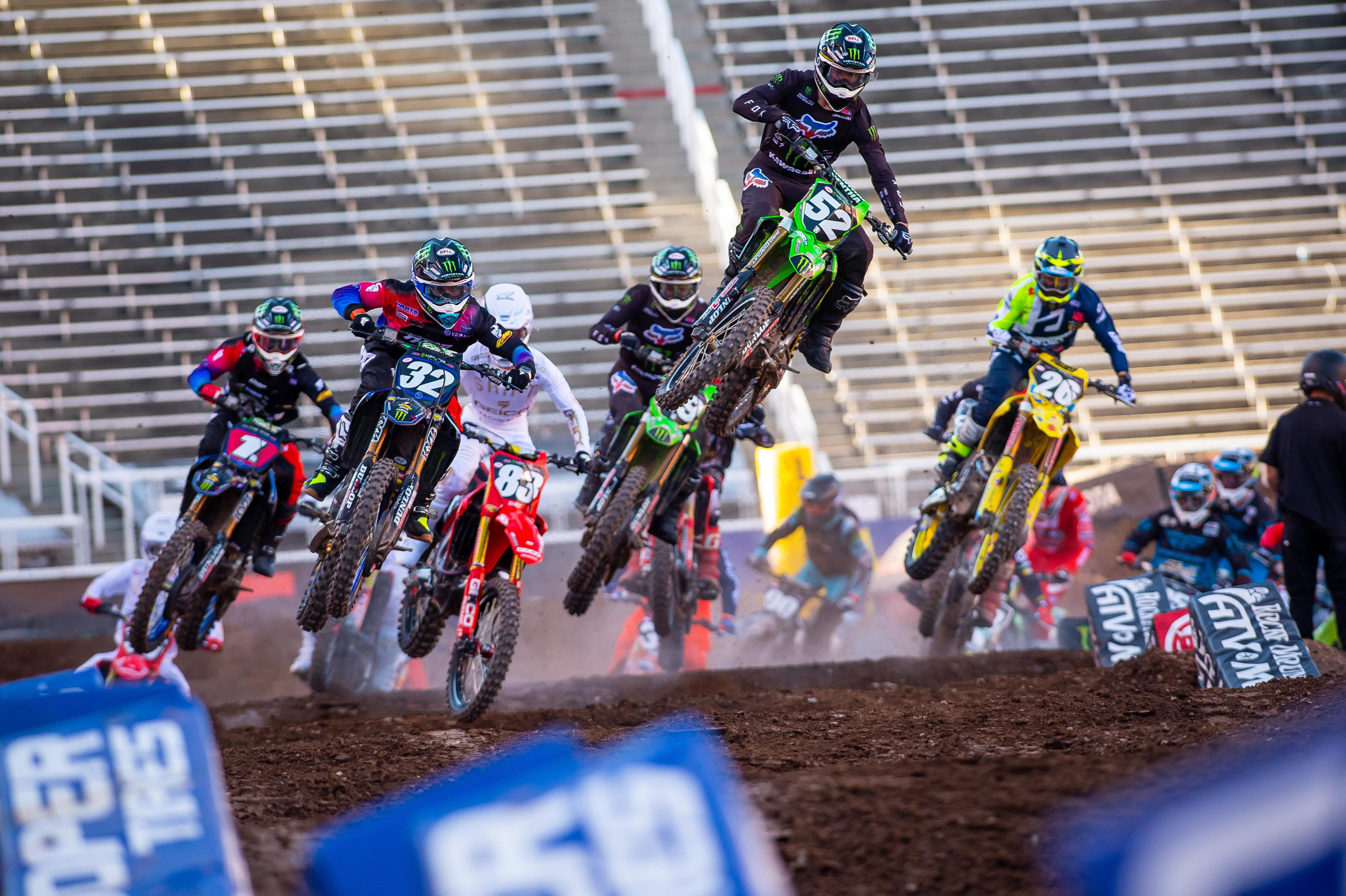 Austin Forkner rode clean laps to his third win of the season in the first 2020 appearance of the Western Regional 250SX Class in Utah. Photo Credit- Feld Entertainment,Inc