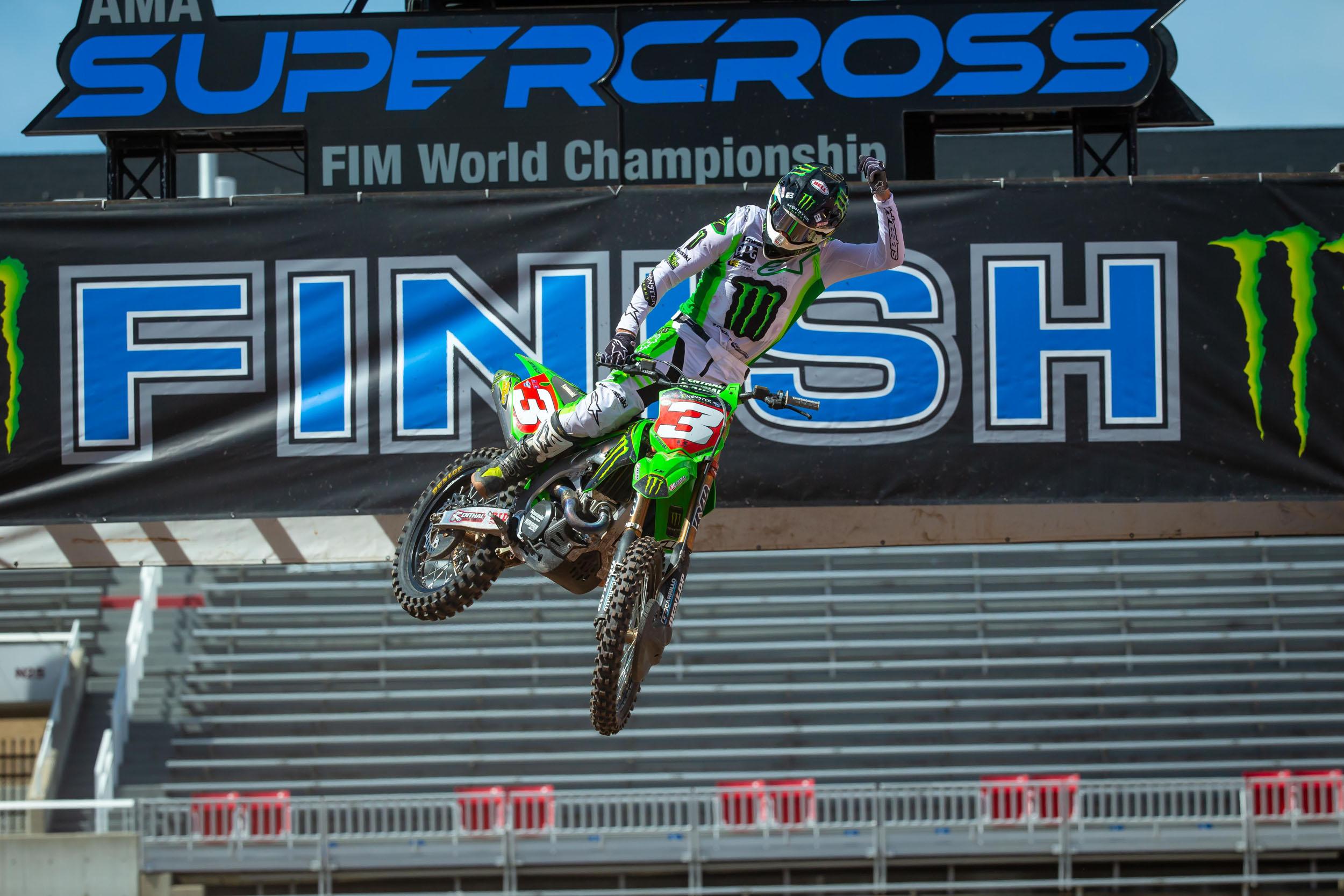 Eli Tomac grabbed his first Monster Energy Supercross title
