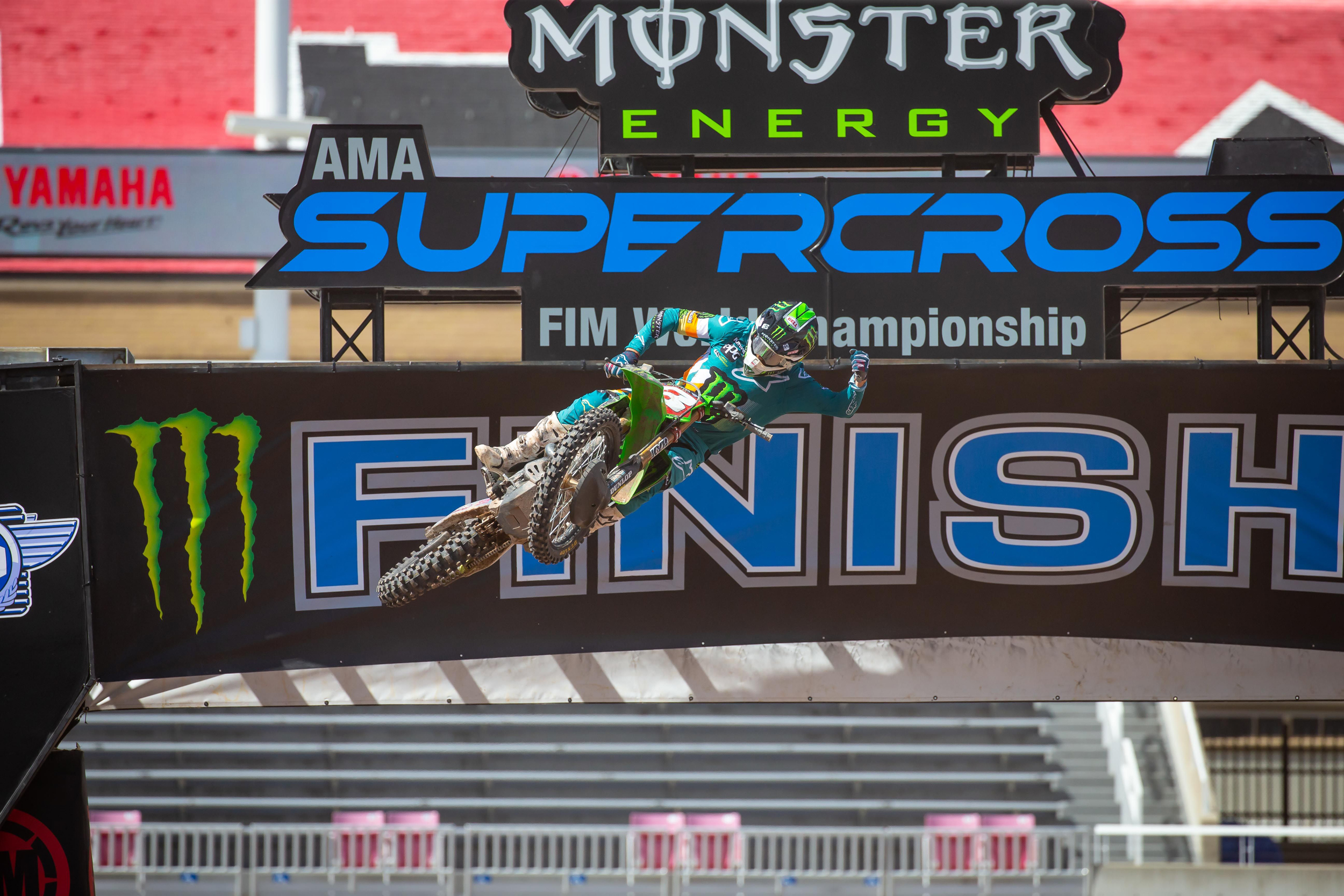 Kawasaki's Eli Tomac pulled off a confidence-building win - SX Round 11