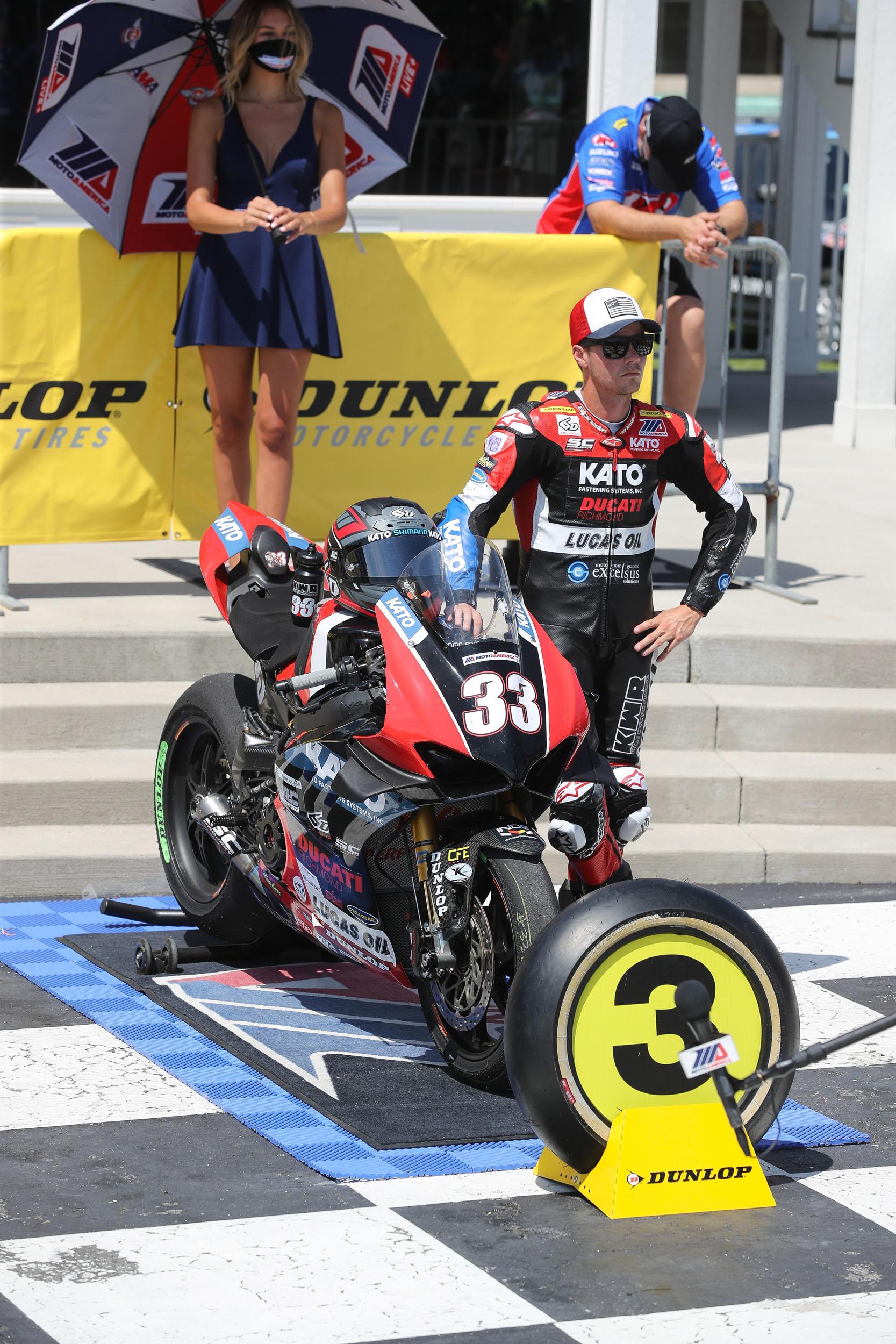 MotoAmerica - Superbike - Kyle Wyman #33 (3) podium