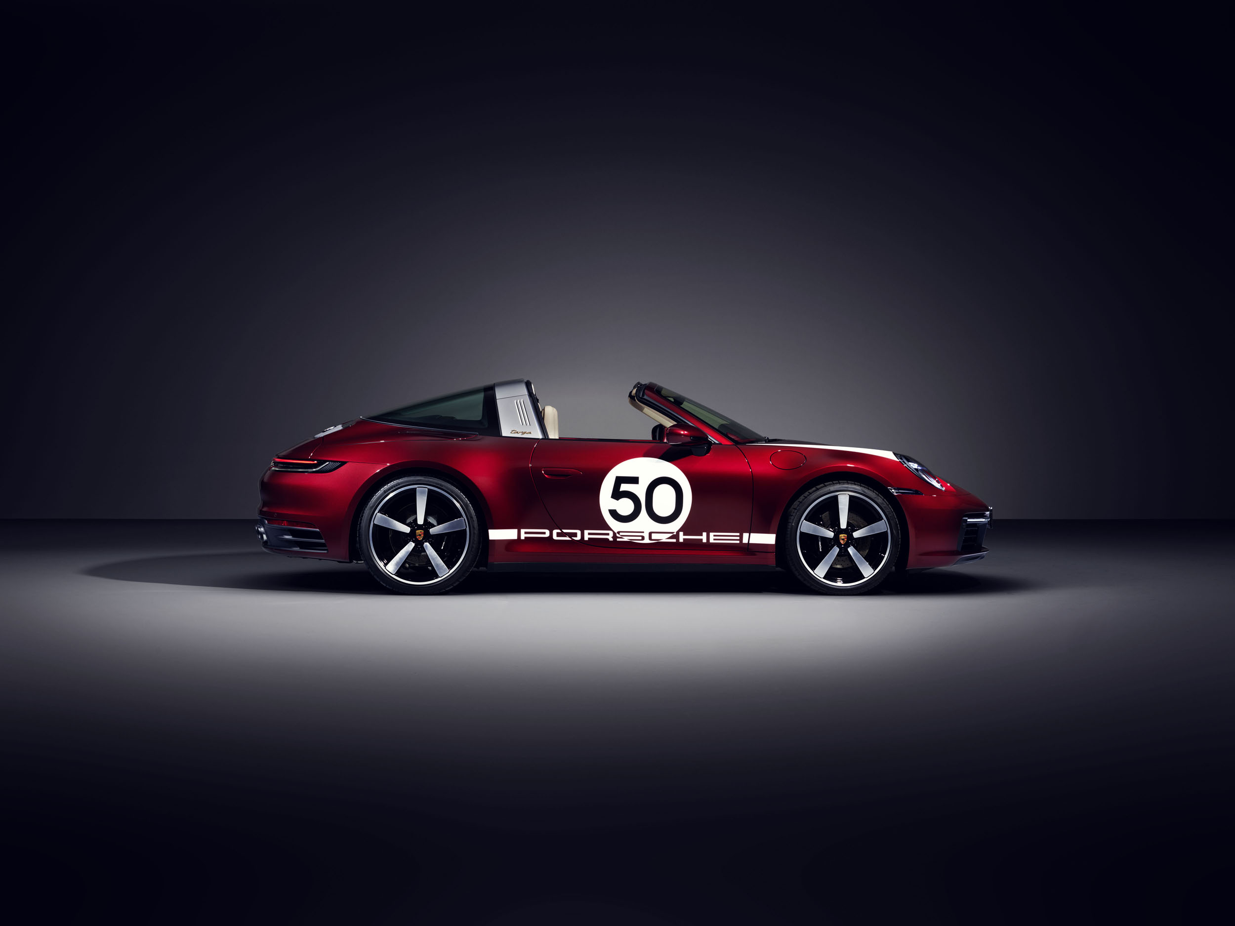 Porsche 911 Targa 4S Heritage Design Edition, profile
