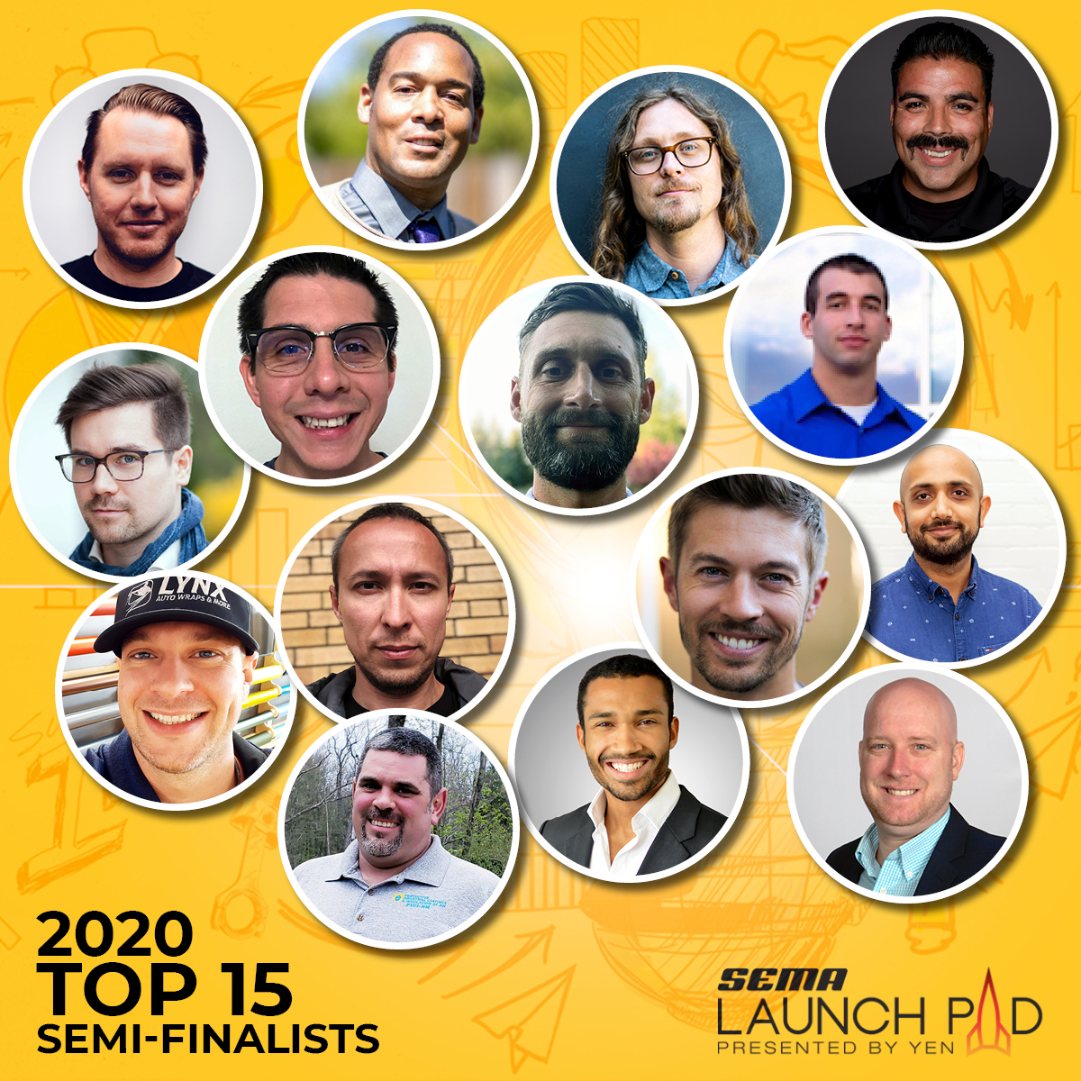 The top 15 applicants of the 2020 SEMA YEN Launch Pad Competition have been selected and now move on to the online voting stage.
