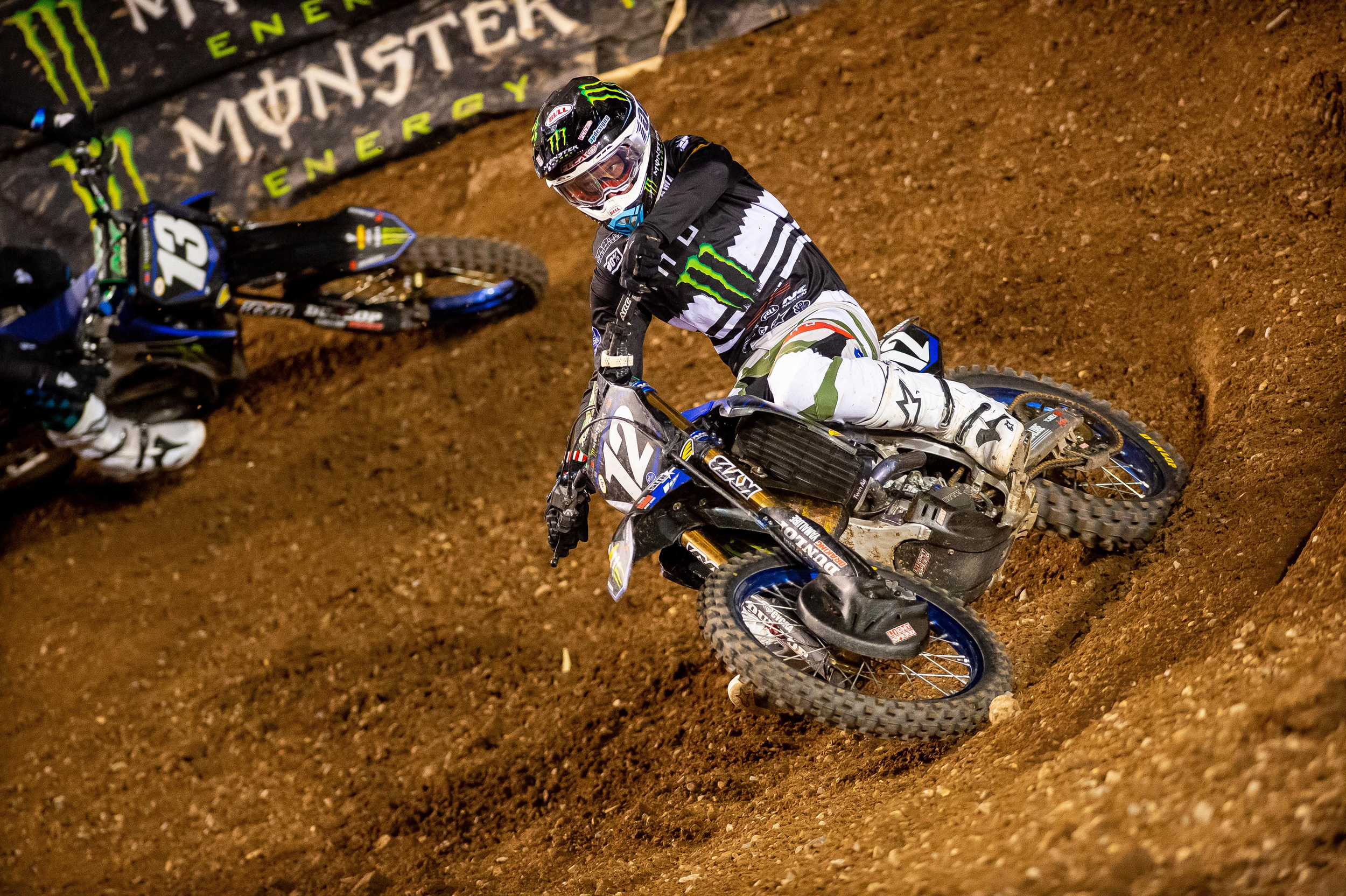 Shane McElrath won his second consecutive race, his third of the season. It puts him into a tie in the Eastern Regional 250SX Class title chase. Photo Credit- Feld Entertainment, Inc.