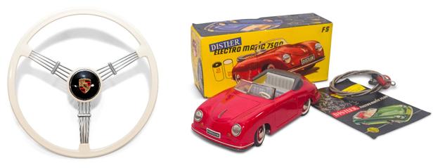 200701 Porsche 356 Pre-A Banjo Steering Wheel and Distler Electro-Matic 7500 with Porsche License Plate (4) copy
