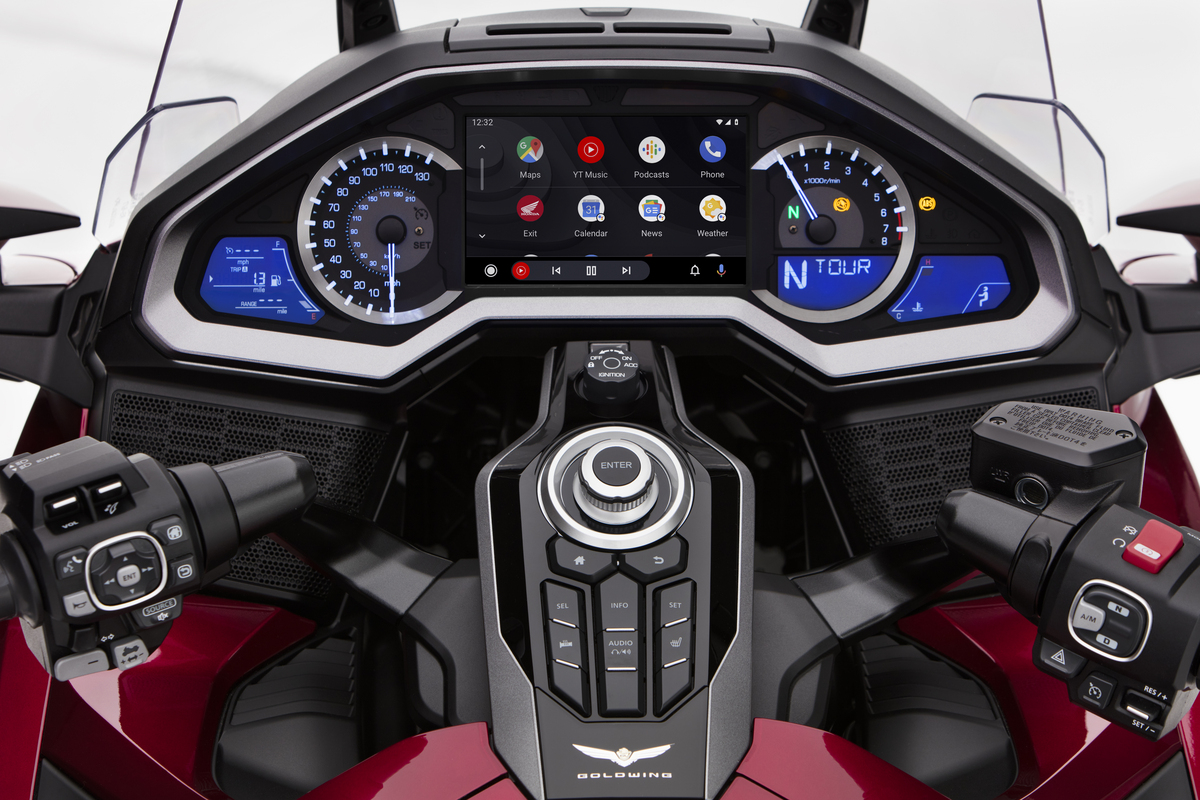 Honda announced that Android Auto™ will be integrated with the current-model Gold Wing.