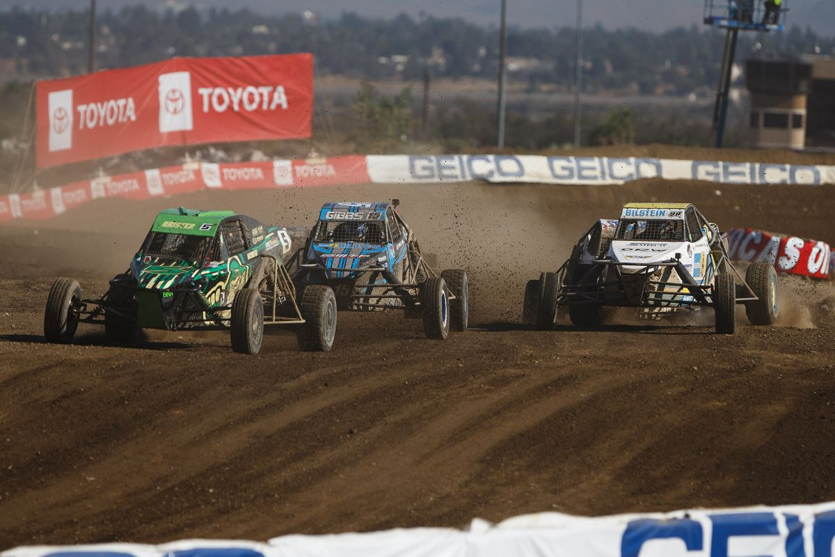 200729 Matthew Brister (front) broke through for his first career Pro Buggy win on Saturday
