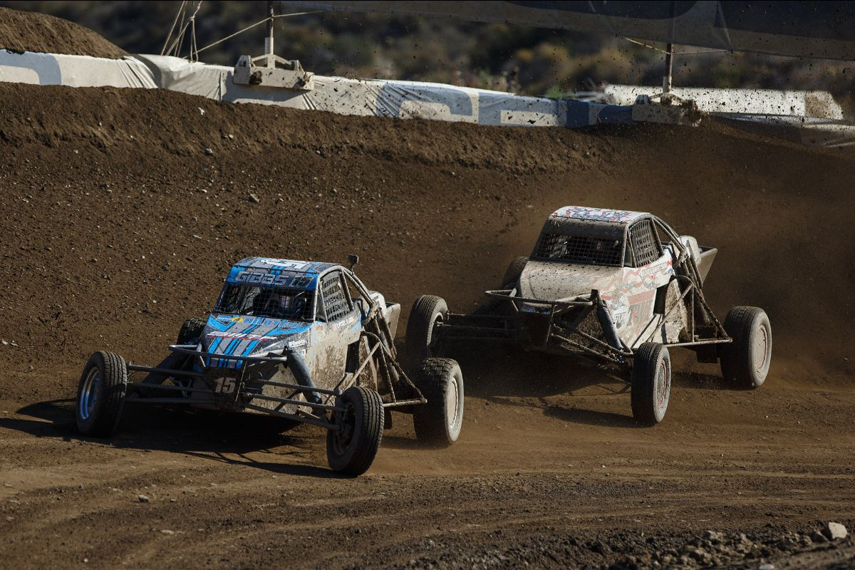 200729 Trey D. Gibbs (front) made it back-to-back first-time winners in Pro Buggy with his win on Sunday