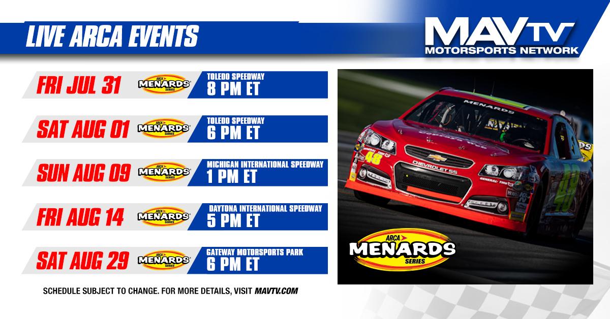 200730 MAVTV Live ARCA Events