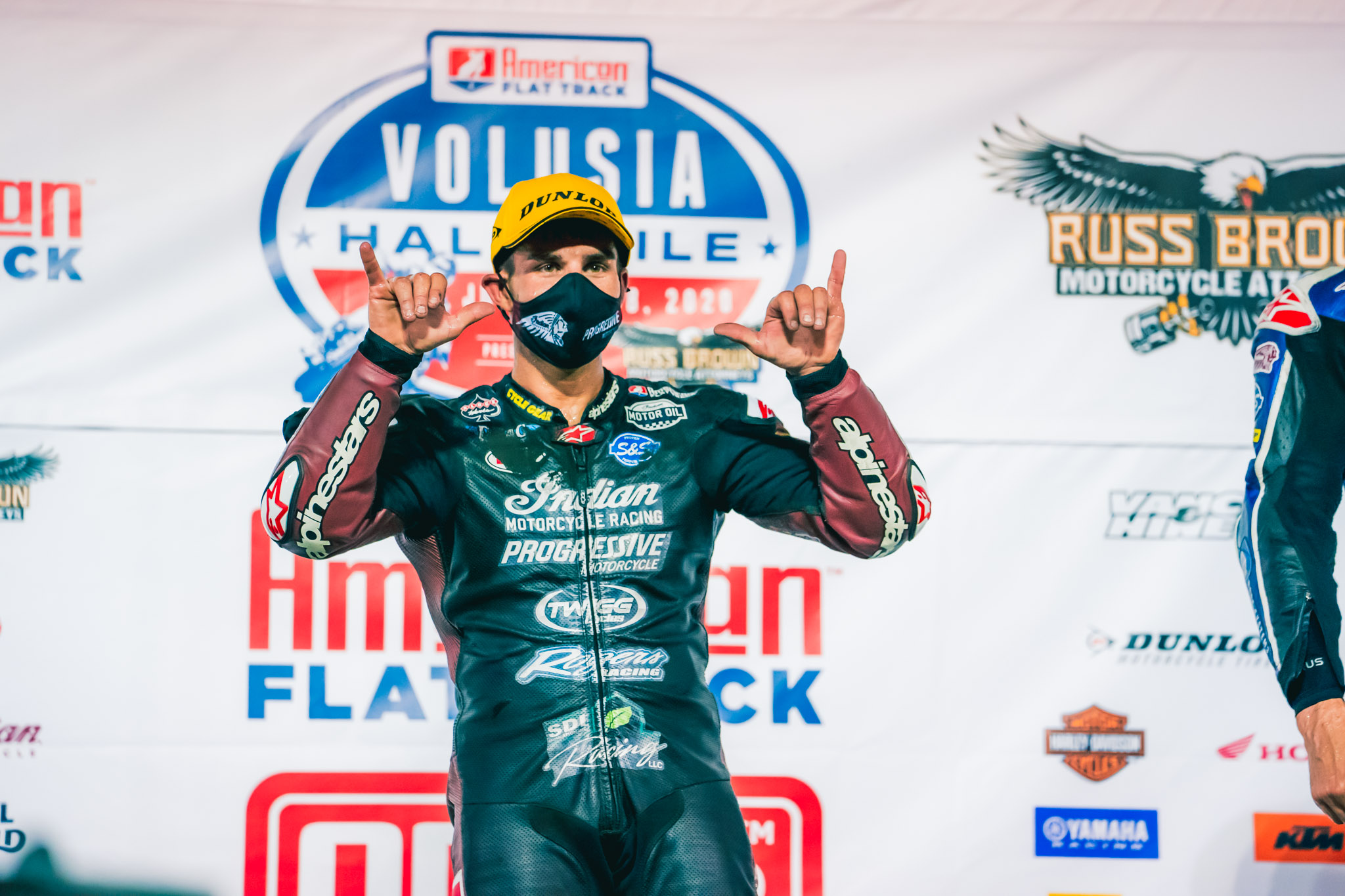 Indian Motorcycle Racing - Volusia Hlf-Mile V1 Mees Podium[2]