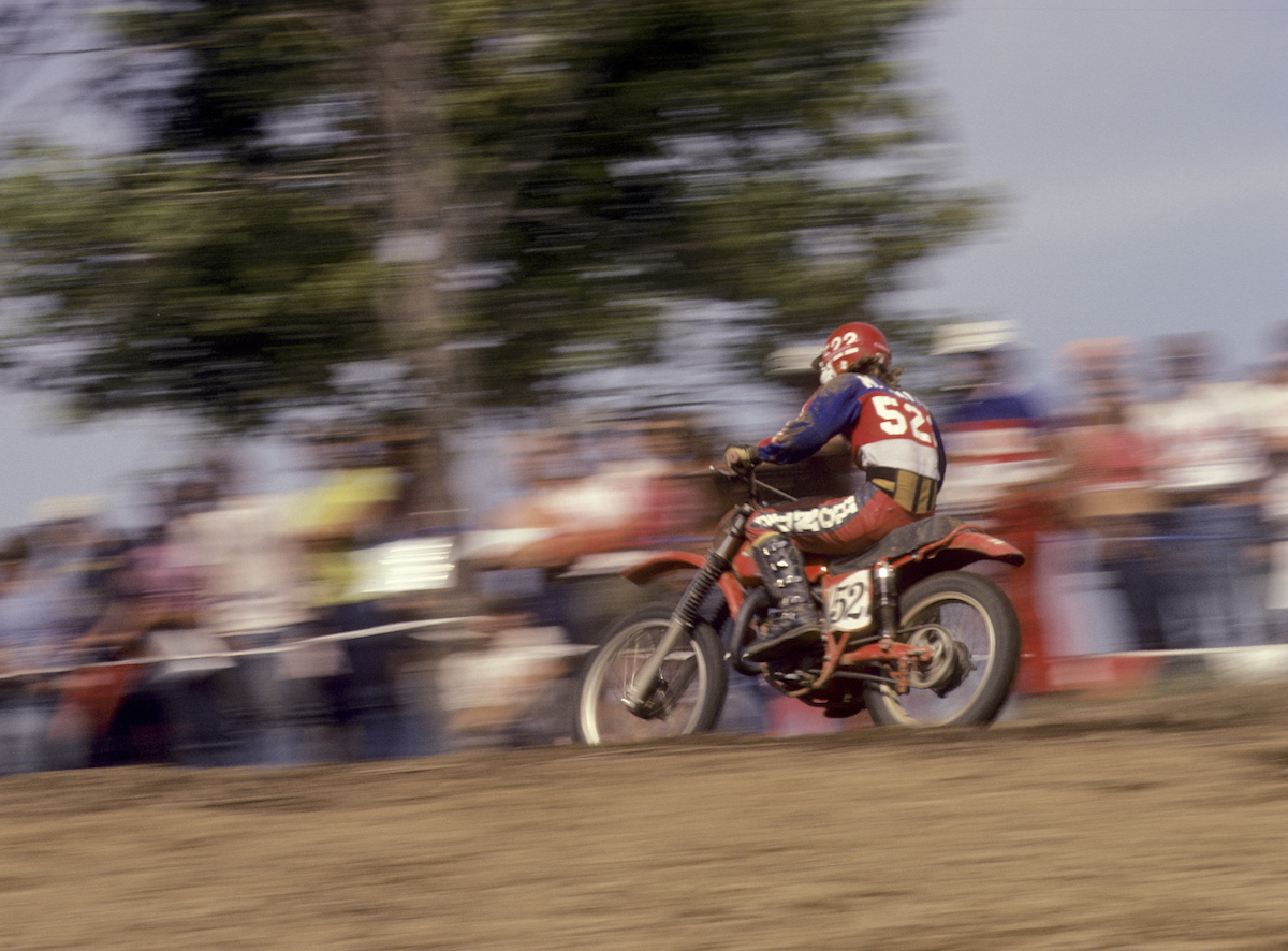 Smith captured the first ever 125cc AMA National Championship in 1974 at just 17 years of age. Photo- Dick Miller