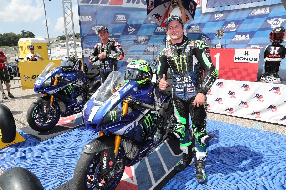 200802 Beaubier ended up winning his fourth race of the season and the 42nd of his AMA Superbike career