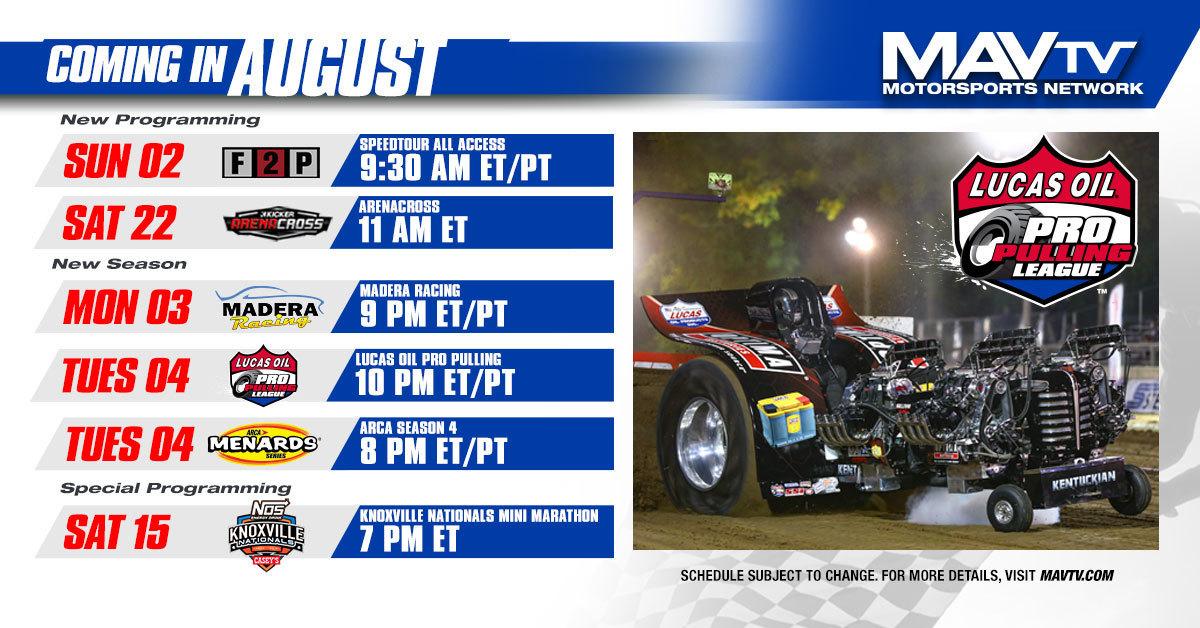 200803 MAVTV August Broadcast Schedule