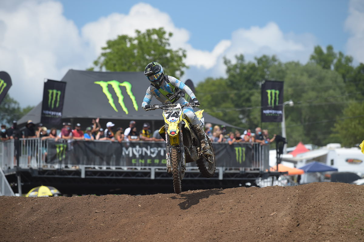 200805 Dilan Schwartz prevailed with the Moto 1 win in the highly competitive 250 Pro Sport
