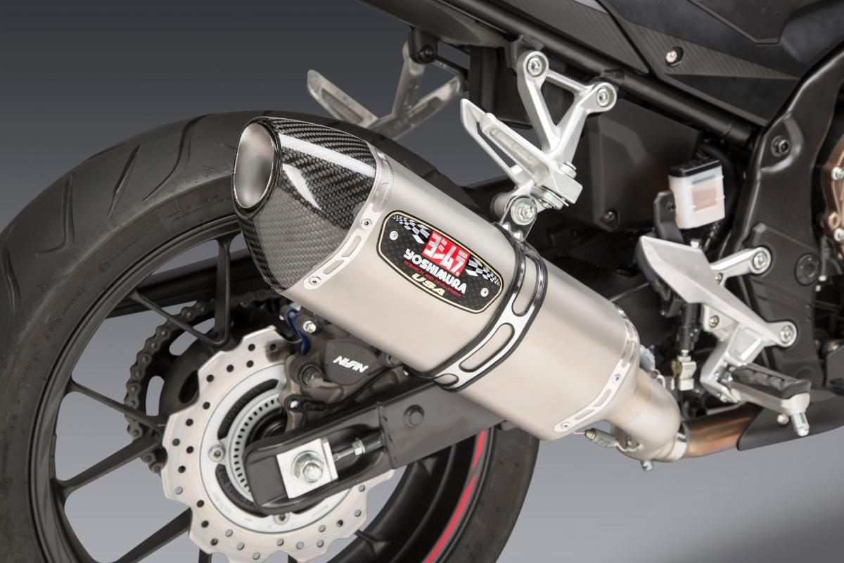 200814 Yoshimura Introduces Honda CBR500R R-77 Slip-on (4)