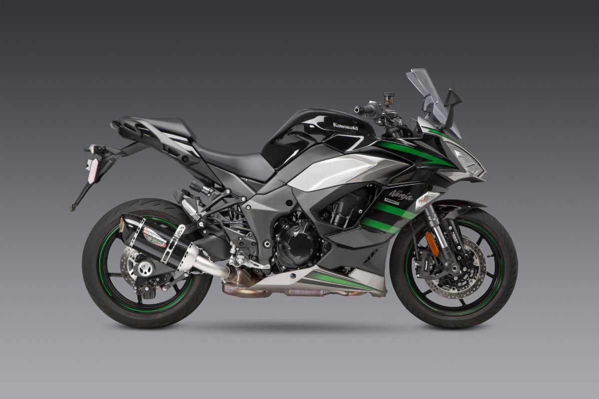 2020 Kawasaki Ninja 1000 SX with carbon/carbon Works Finish Alpha slip-on