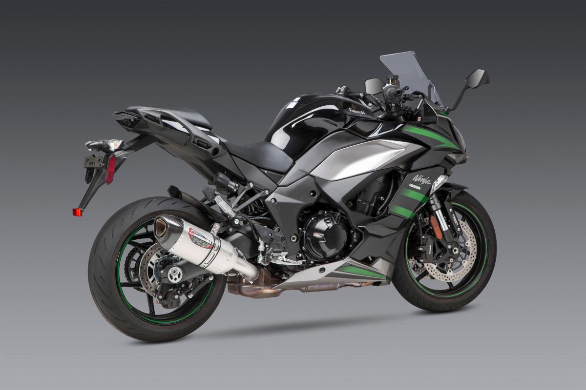 2020 Kawasaki Ninja 1000 SX with stainless/carbon Works Finish Alpha slip-on