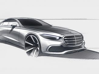 Mercedes-Benz S-Klasse, Designskizze // Mercedes-Benz S-Class design sketch