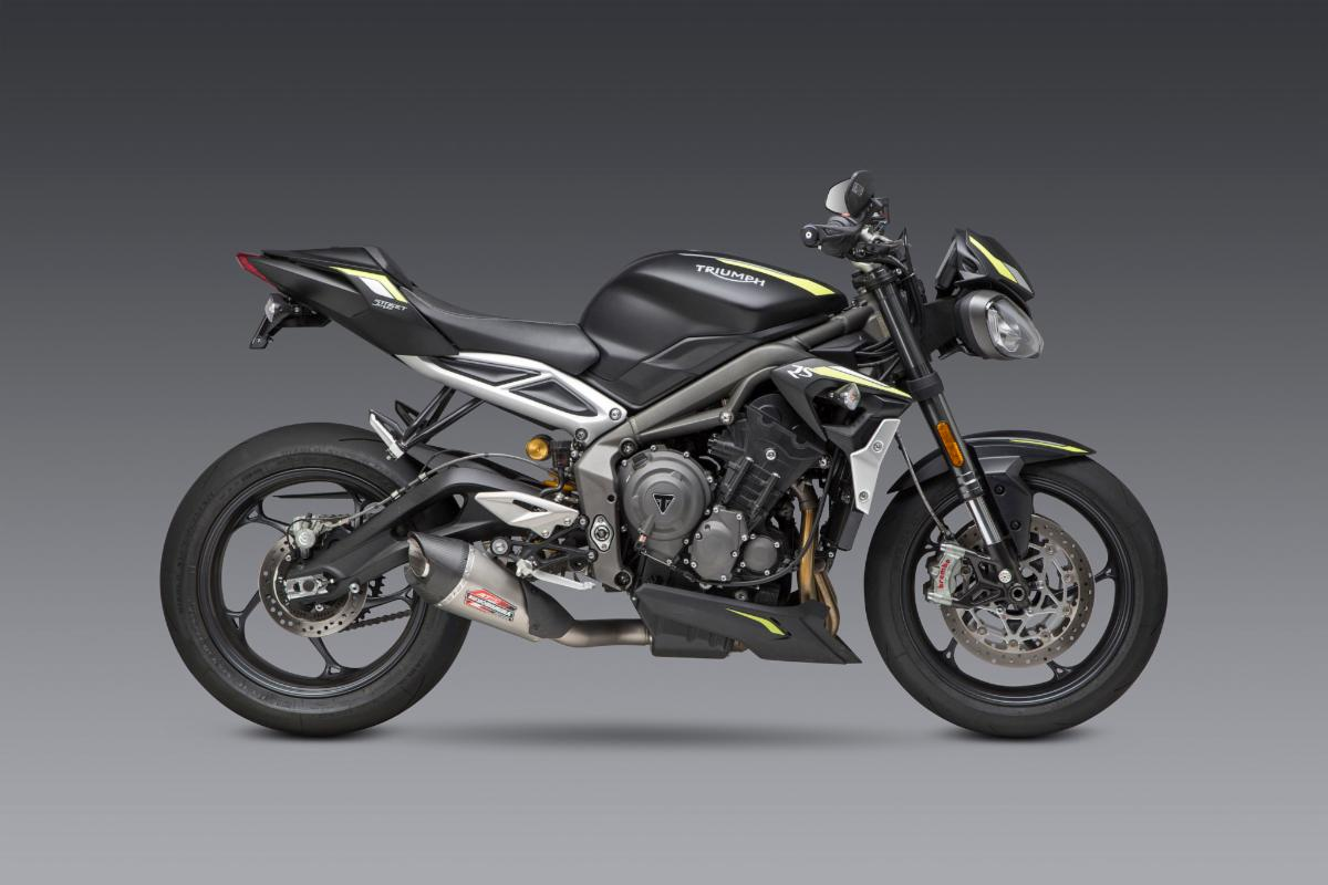 2020 Triumph Street Triple with Works Finish AT2 Slip-on