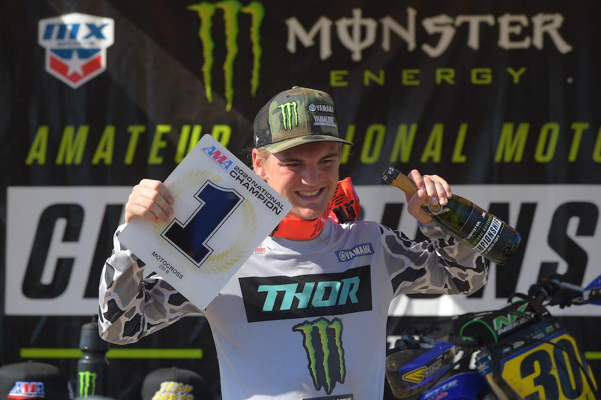Nate Thrasher won the final 250 B moto, but Matt Leblanc prevailed as champion (1)