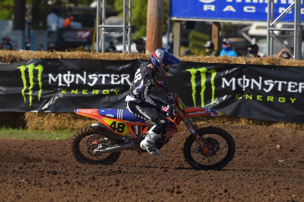 Nate Thrasher won the final 250 B moto, but Matt Leblanc prevailed as champion (2)