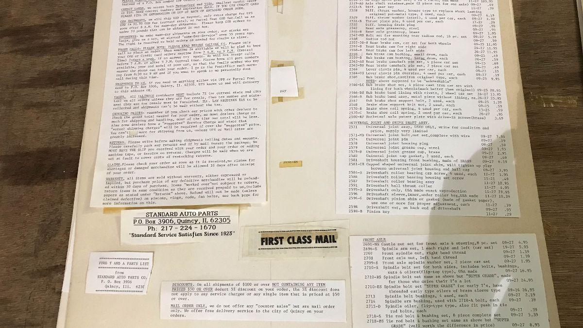 200901 Original Ernie Hemmings' Final Standard Auto Parts Catalog (Lot 551)